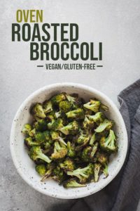 pinterest image for oven roasted broccoli