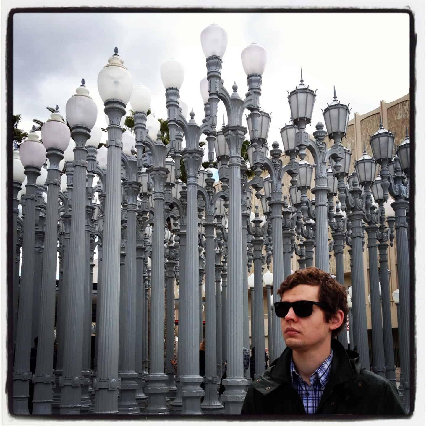 Jeron at the lanterns