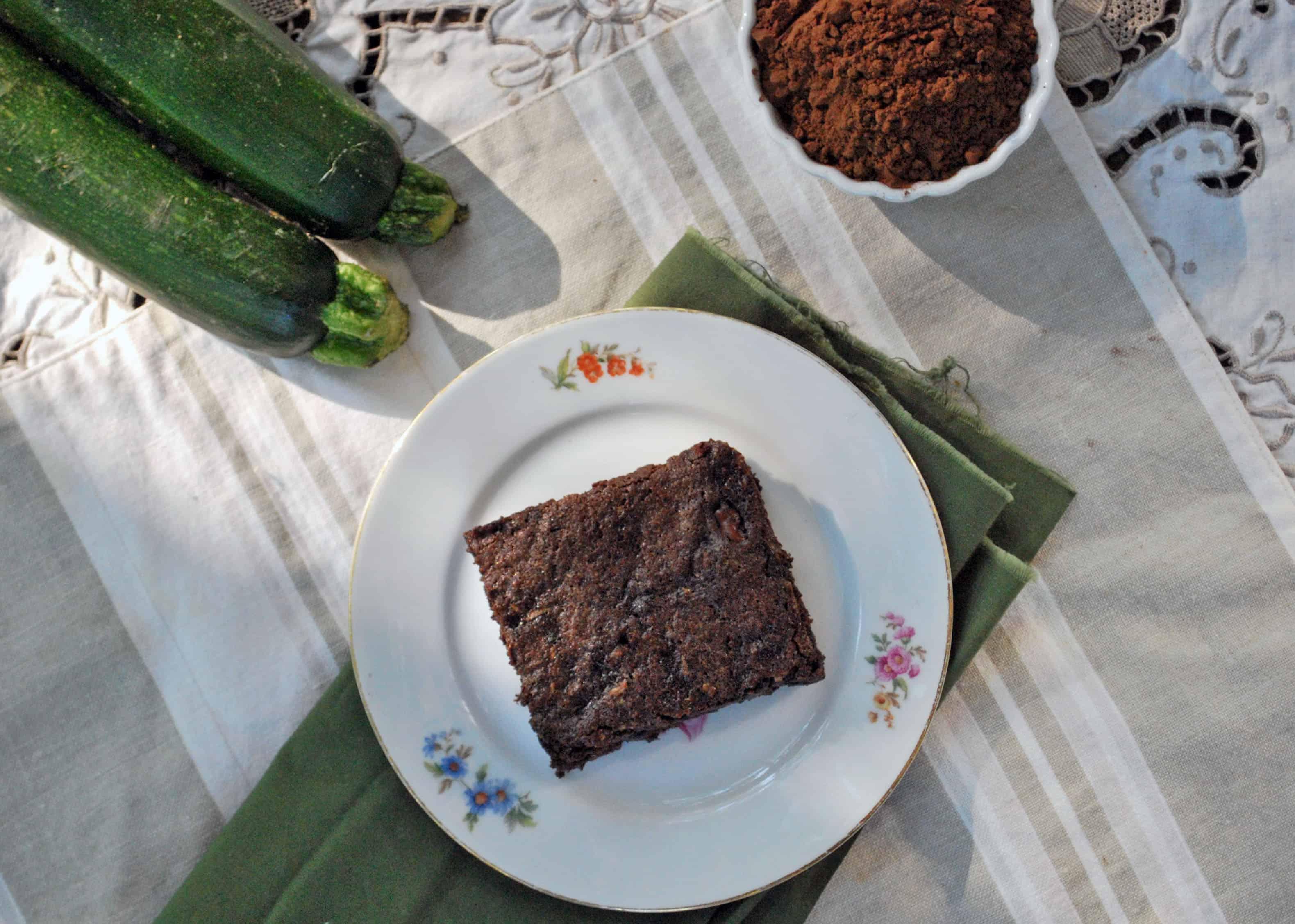 Chocolate Chip Zucchini Brownie