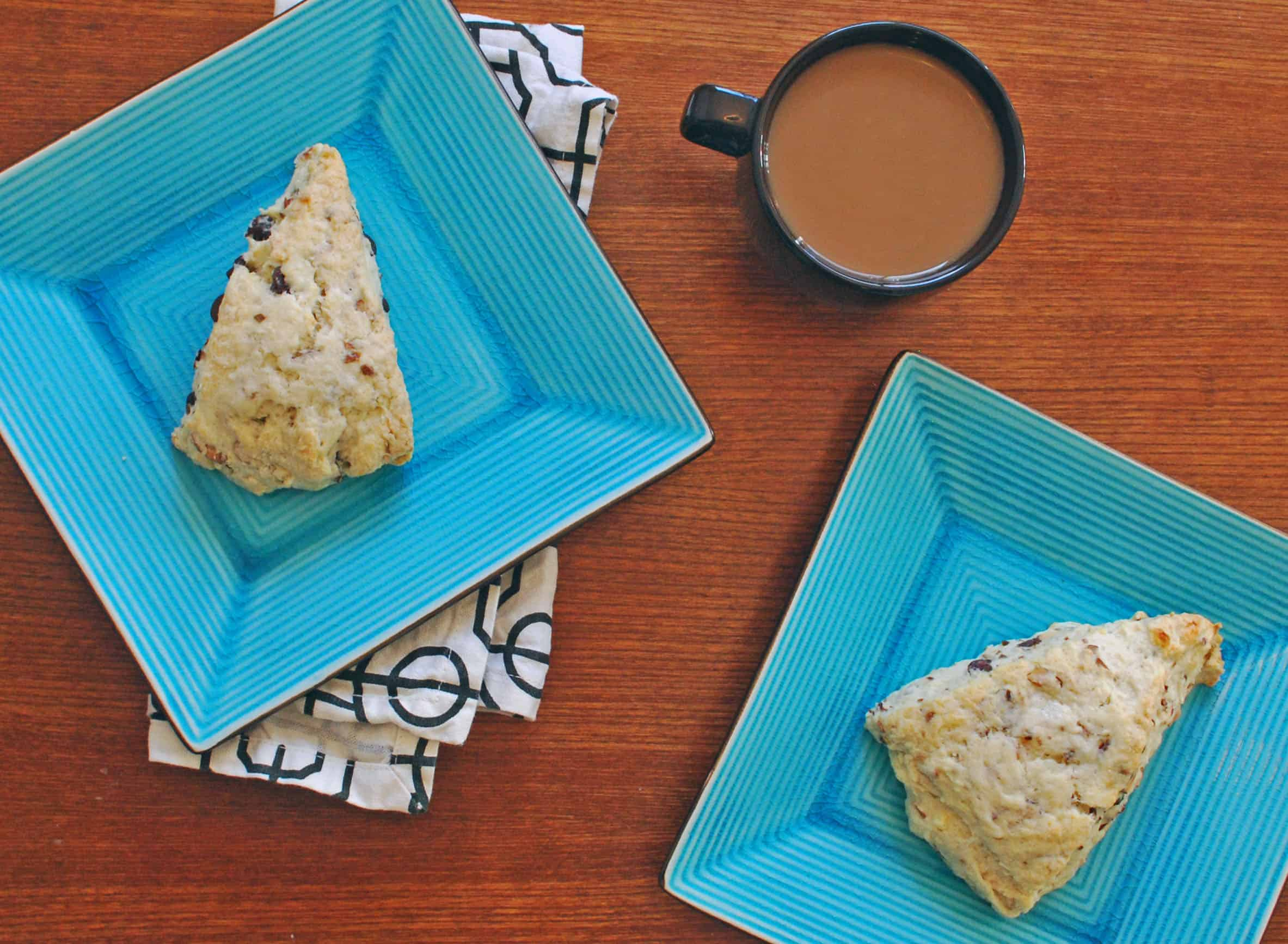 Chocolate Coconut Almond Scones