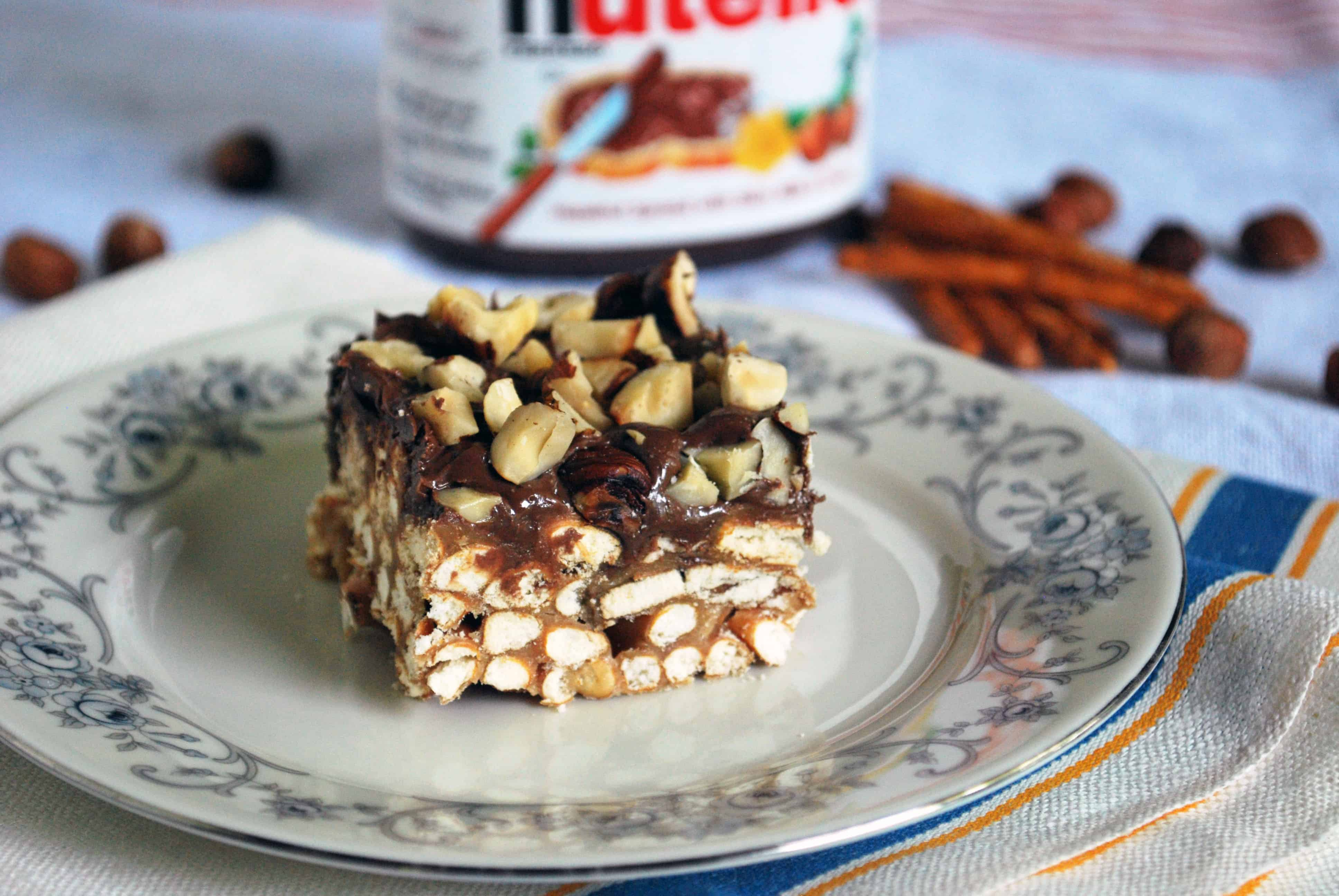 Nutella Peanut Butter Pretzel Bars