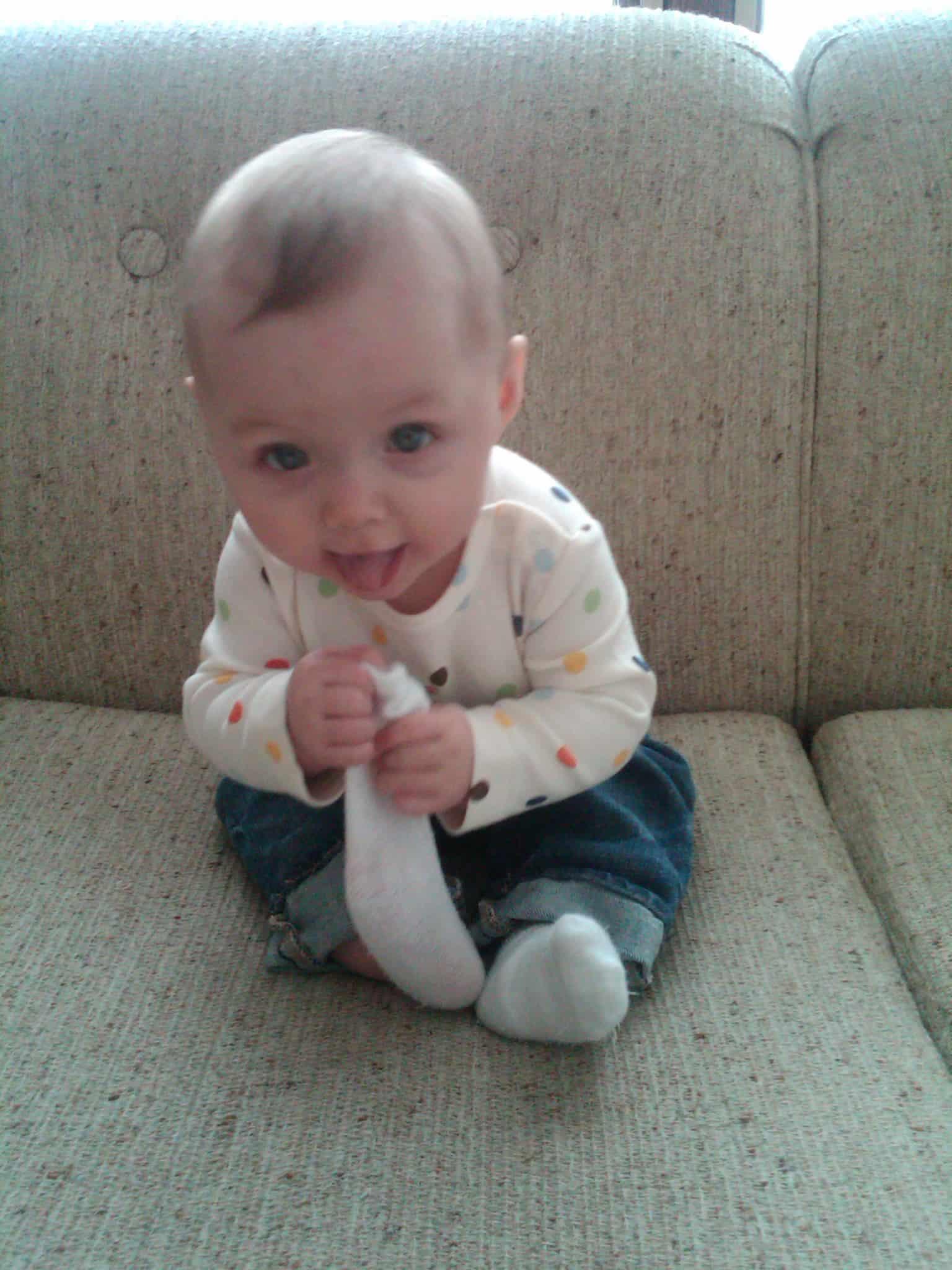 Lola Eating a Sock