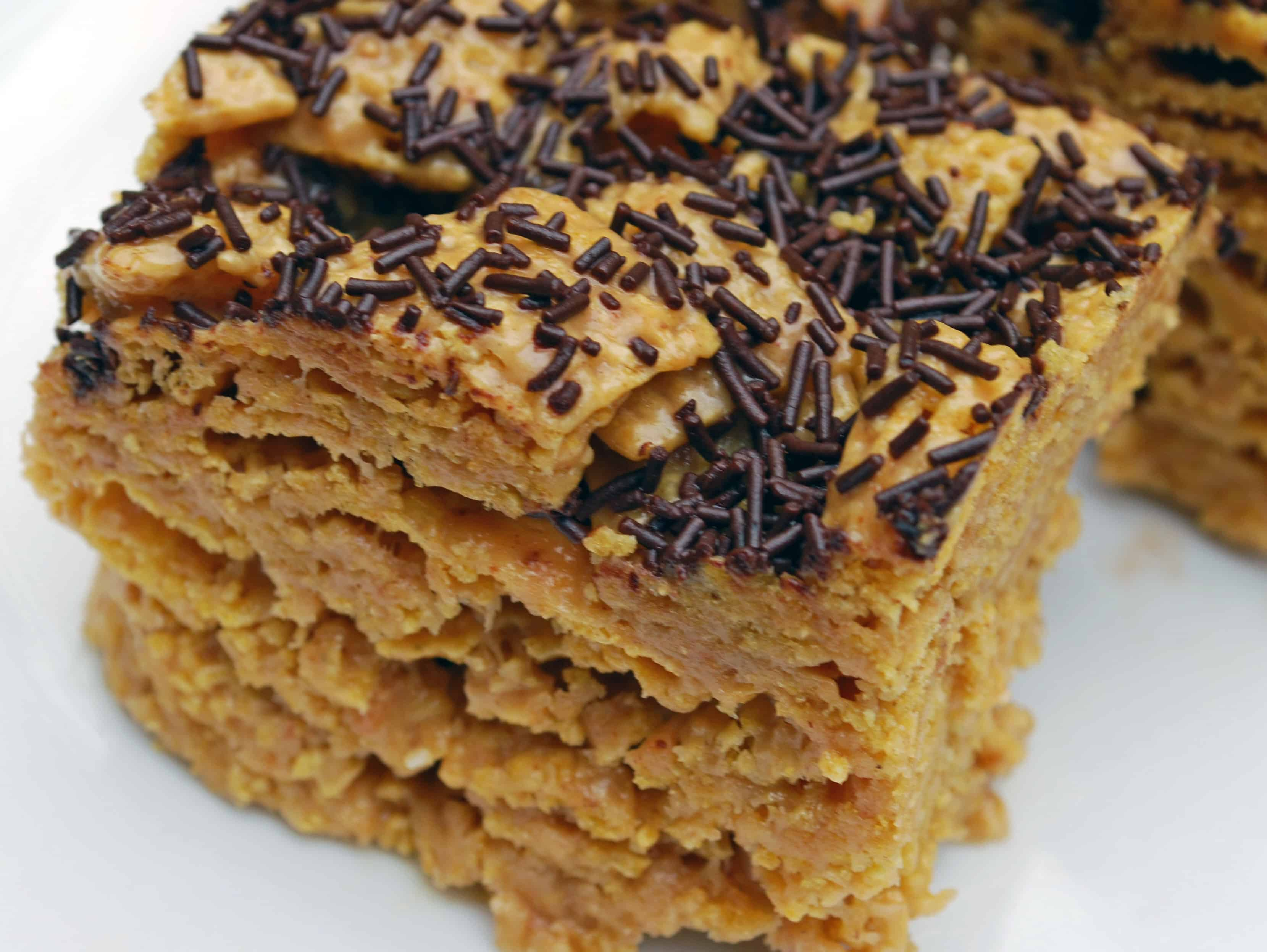 Crispy Brown Butter Peanut Butter Cereal Bars