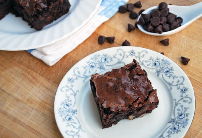 Quadruple Chocolate Chewy Brownies