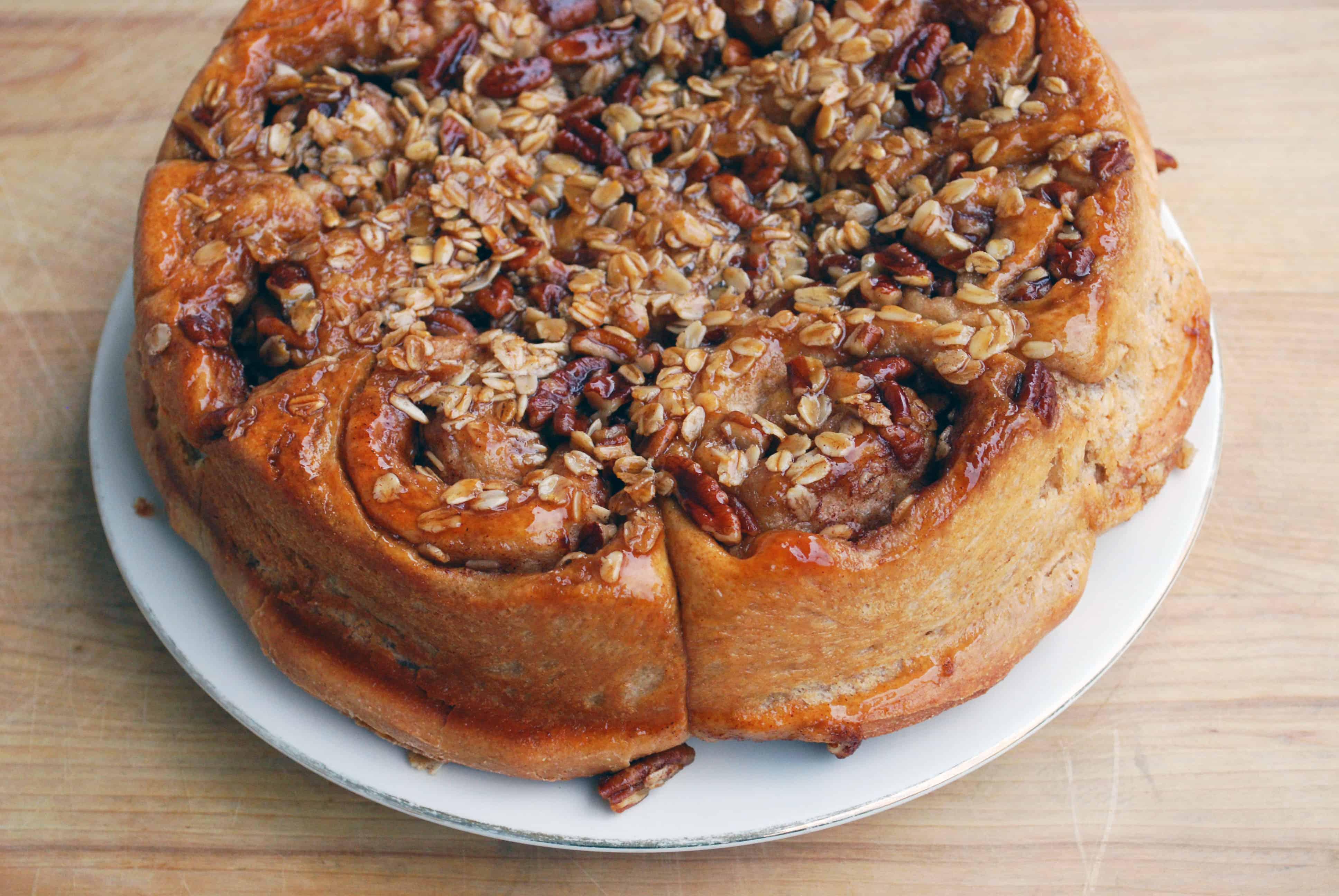 Oatmeal Pecan Cinnamon Rolls