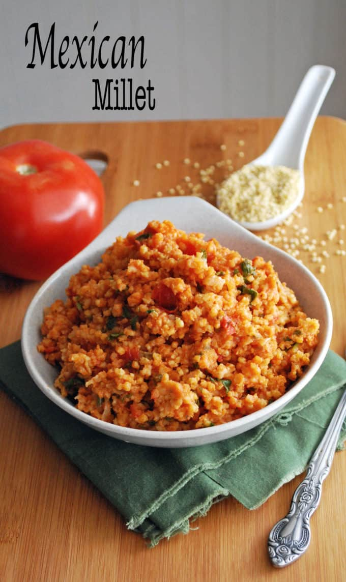 Mexican Millet - A fun and healthy twist on Spanish rice! Full recipe at theliveinkitchen.com