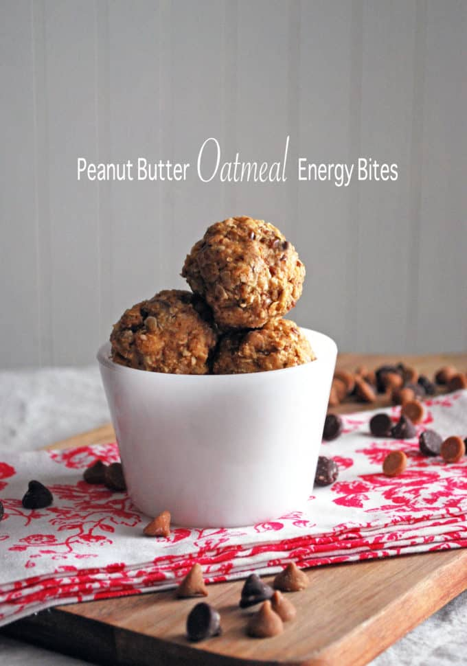 Peanut Butter Oatmeal Energy Bites - The perfect healthy snack to satisfy your sweet tooth! Full recipe at theliveinkitchen.com