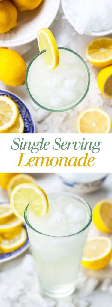 Single Serving Lemonade The Live In Kitchen