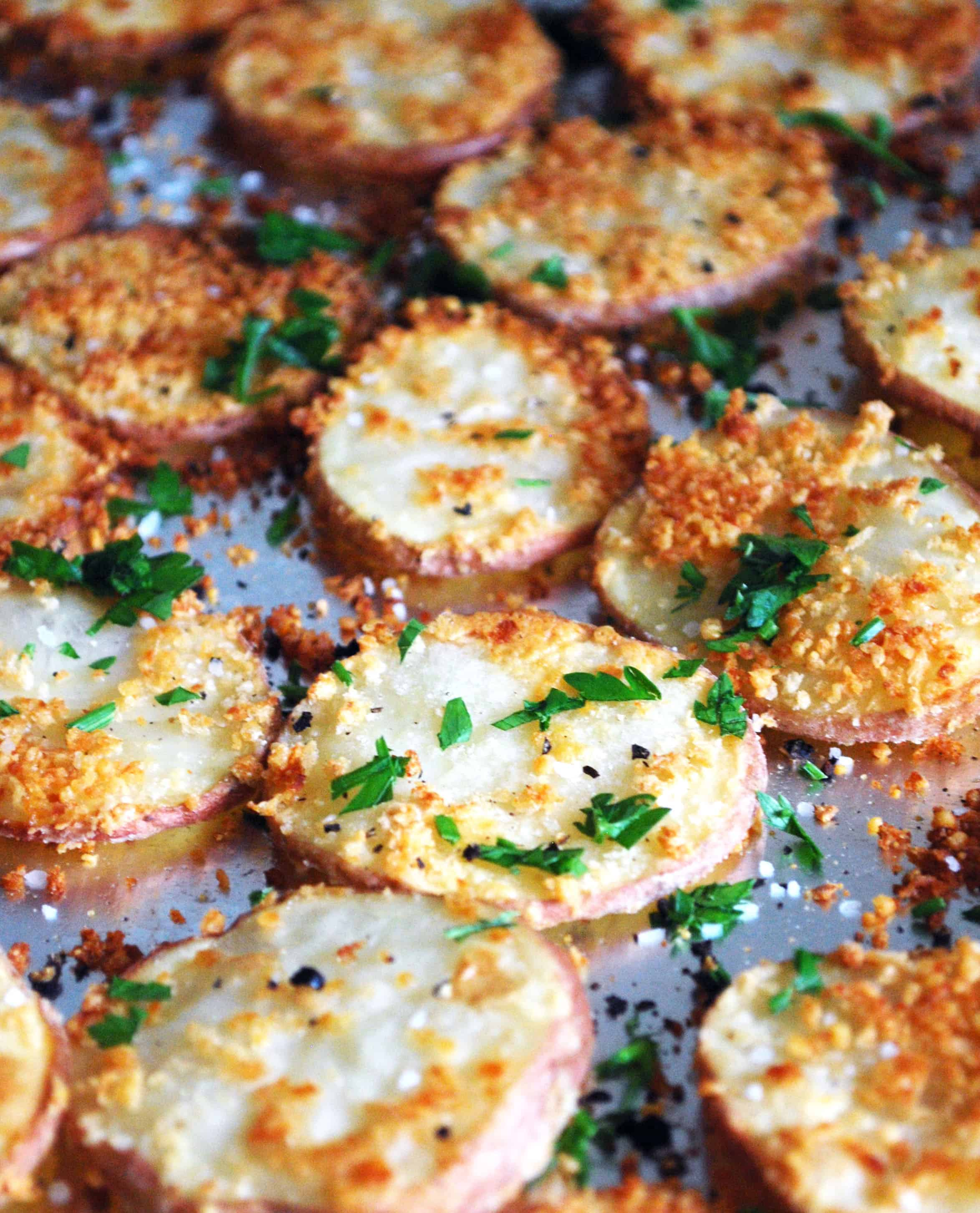 Parmesan Potato Rounds - Full recipe at theliveinkitchen.com