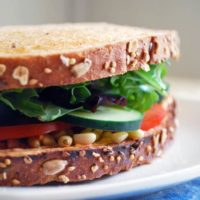 Goat Cheese and Veggie Sandwich - This vegetarian sandwich is unbelievable! Full recipe at theliveinkitchen.com