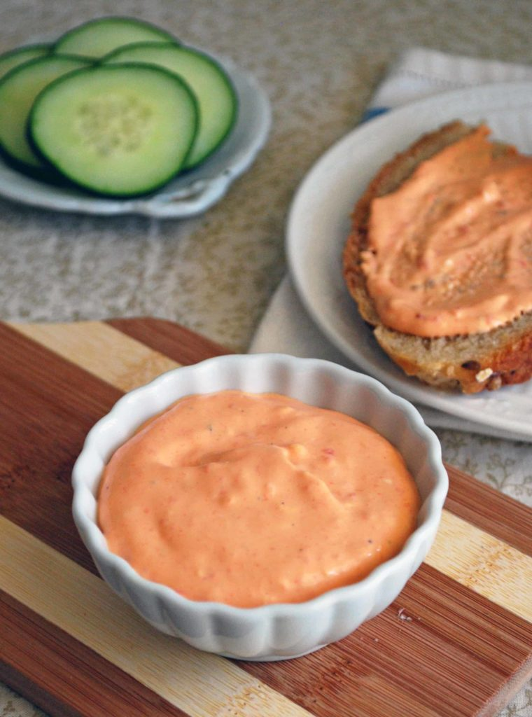 Roasted Red Pepper Whipped Goat Cheese