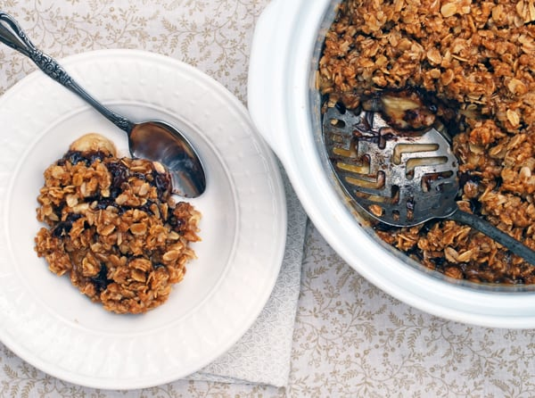 Chocolate Banana Crisp // The Live-In Kitchen