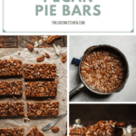 pinterest image for pecan pie bars