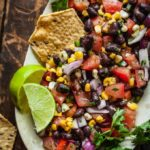 oven roasted corn and black bean salsa