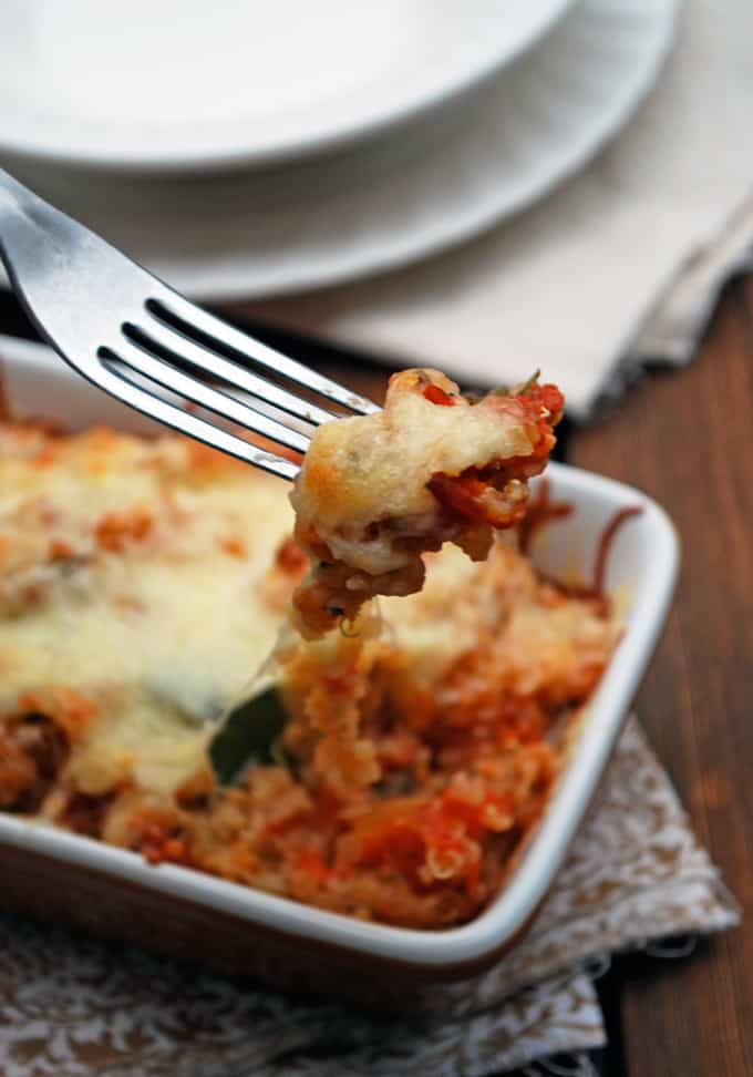 Italian Quinoa Casserole // The Live-In Kitchen