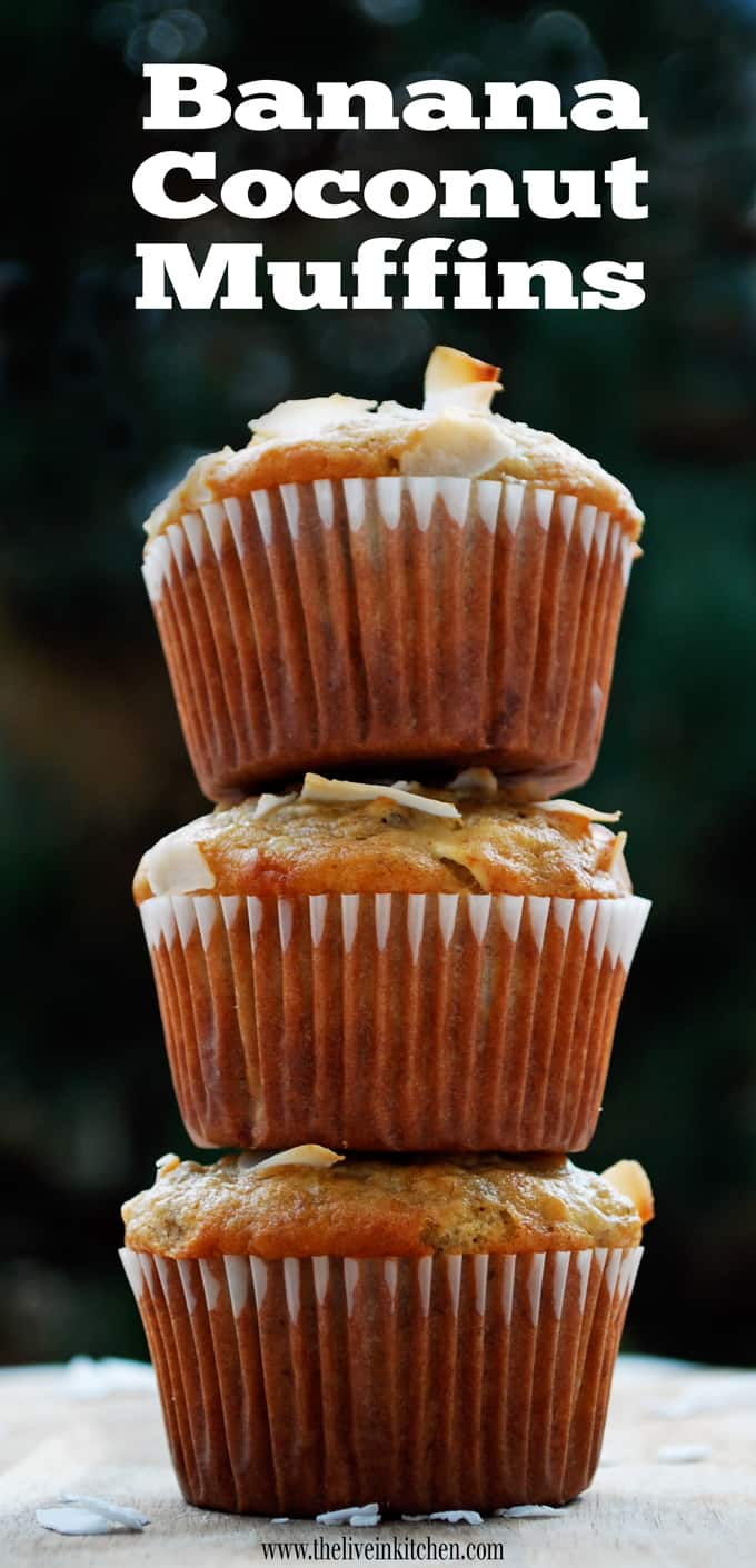 Banana Coconut Muffins // The Live-In Kitchen