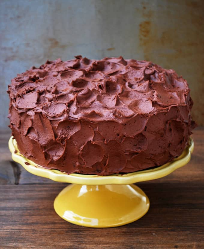 The Best Chocolate Cake with Chocolate Frosting - Full recipe at theliveinkitchen.com