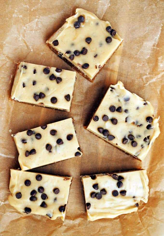 Vegan No Bake Cookie Dough Bars - Sweet and satisfying while still being healthy! You won't believe how good these are!