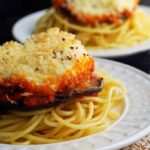 Easy Eggplant Parmesan - Lighter, faster, and just as rich tasting as the real thing!   The Live-In Kitchen