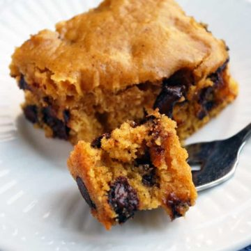 Butternut Squash Snack Cake - Lightly sweet and studded with chocolate chips, this is the perfect snack or healthy treat!