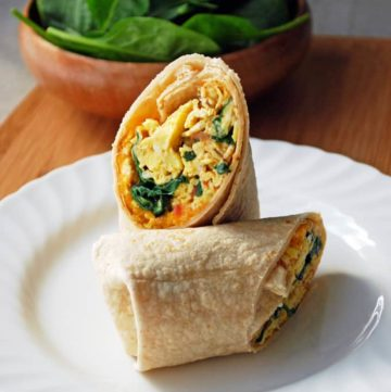 Five Minute Breakfast Burrito - A healthy breakfast on the go is only minutes away! // The Live-In Kitchen