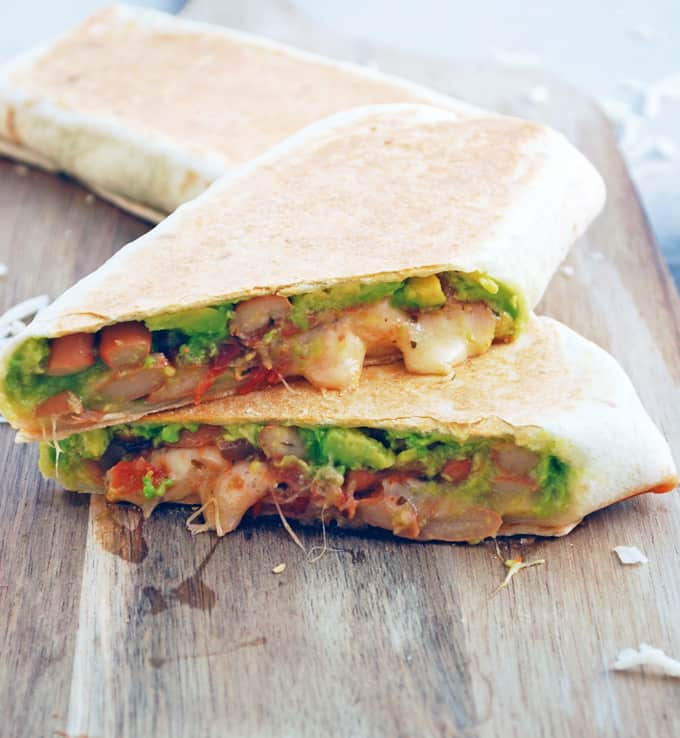 Avocado and Bean Grilled Burritos // The Live-In Kitchen
