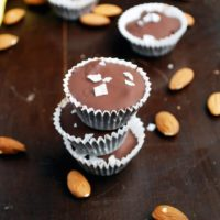 Frozen Dark Chocolate Banana and Almond Butter Cups - A healthy way to satisfy your sweet tooth!