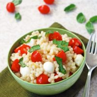 Caprese Couscous - An easy summer pasta salad using #WalmartProduce via The Live-In Kitchen