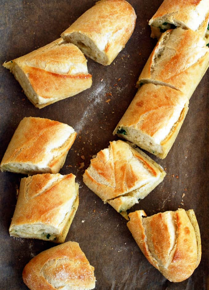 Best Ever Garlic Bread via The Live-In Kitchen - This disappears every time I make it!