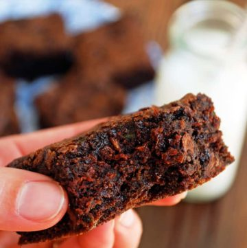 Vegan Zucchini Brownies - This is the recipe I've been looking for! Rich, fudgy brownies from The Live-In Kitchen.