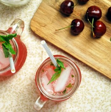 Cherry Mojitos - So bright and refreshing! #WalmartProduce