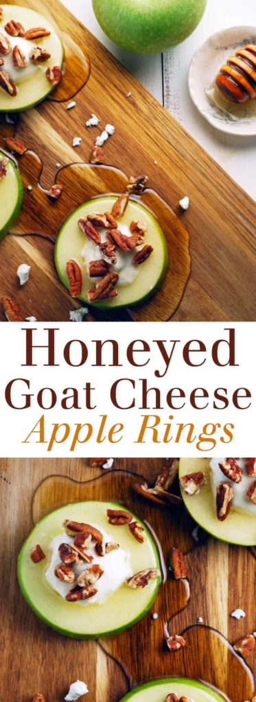 Honeyed Goat Cheese Apple Rings - This is just what I need to WOW at my next party! | theliveinkitchen.com