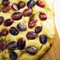Grape Focaccia and Brie Grilled Cheese via theliveinkitchen.com