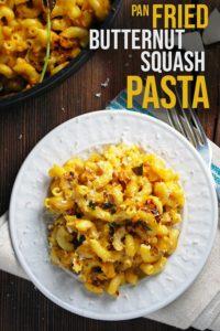pinterest image for butternut squash pasta