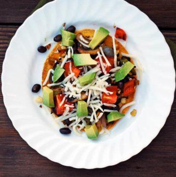 Roasted Vegetable Tostadas - Healthy Mexican food! Yes pleeeeease!