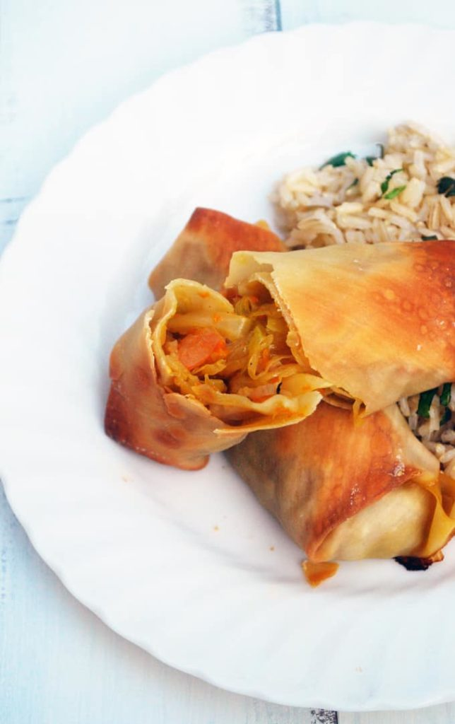 Baked Shrimp Egg Rolls - So easy and delicious to make at home, no need for takeout!