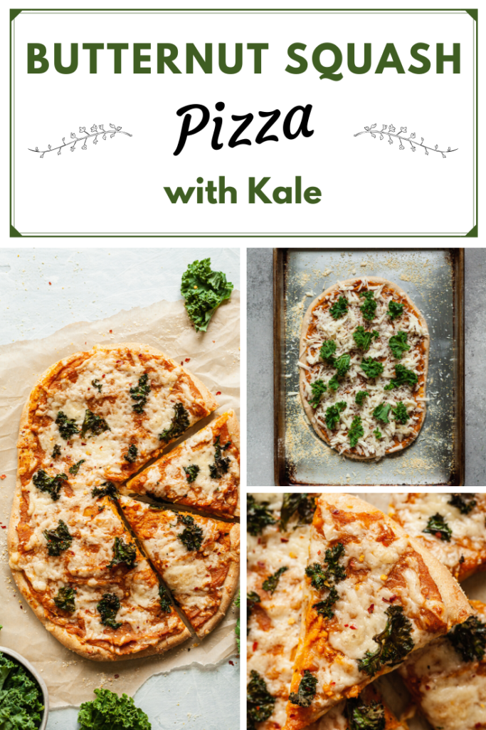 butternut squash pizza with kale