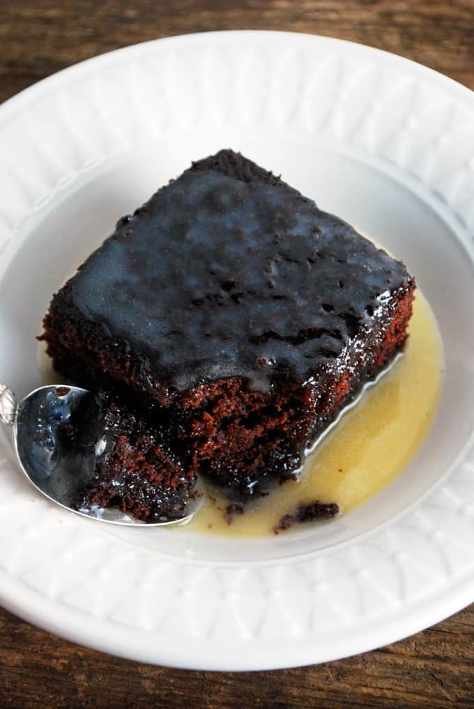 Chocolate Cake with Warm Butter Sauce - The ultimate treat! Full recipe at theliveinkitchen.com