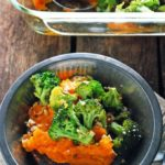 Broccoli Cheddar Sweet Potato Casserole - vegan, gluten free, and super healthy!
