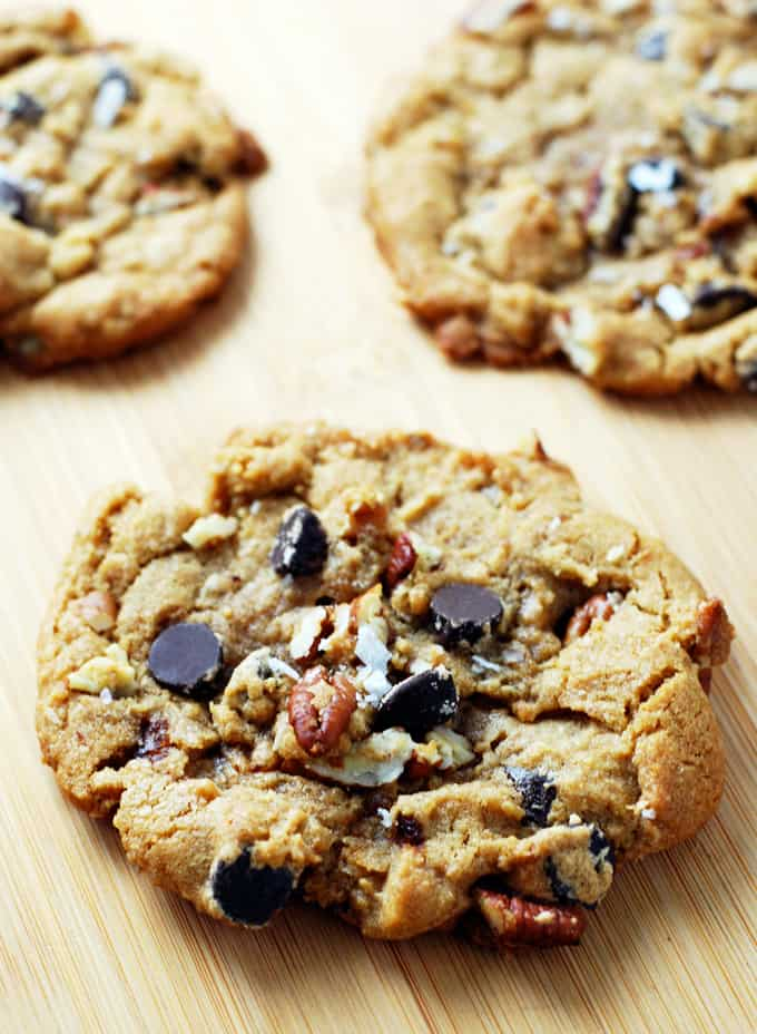 Pecan Chocolate Chip Cookies - Crisp, chewy, and full of chocolate and pecans!