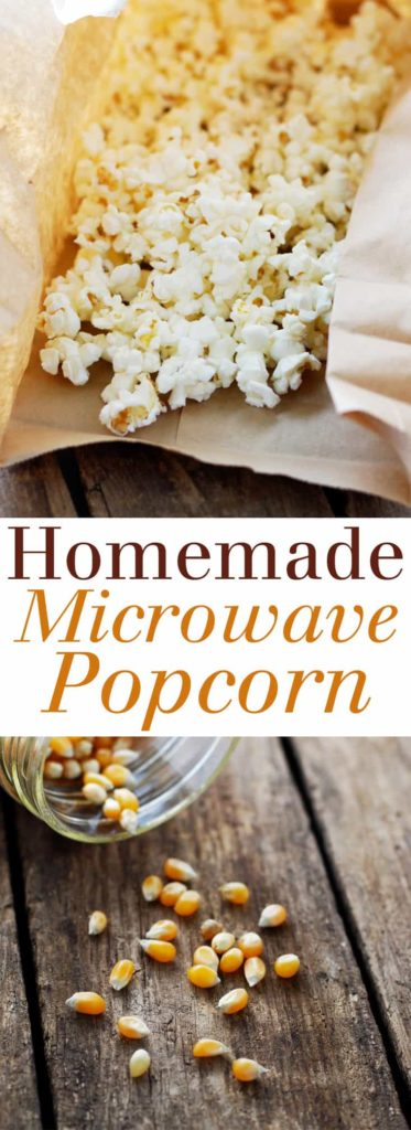 Homemade Microwave Popcorn - NO chemicals, NO fuss, just healthy, simple, delicious popcorn in just 3 minutes! Full recipe at theliveinkitchen @liveinkitchen