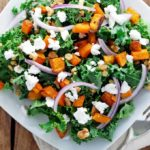 Roasted Sweet Potato and Kale Salad