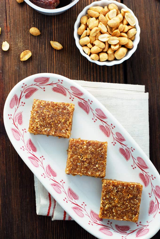 Peanut Butter Larabars - TWO ingredients and just a few minutes will give you this supremely satisfying healthy treat!
