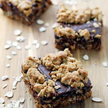 Nutty Chocolate Oat Bars