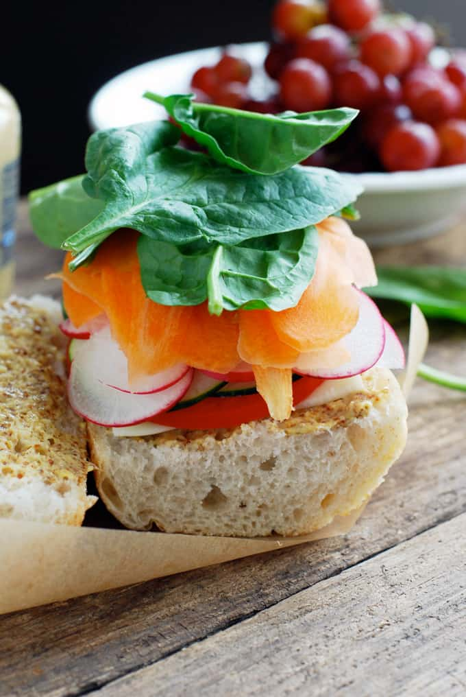 The Best Veggie Sandwich - Simple, healthy ingredients make this super flavorful vegetarian sandwich! Full recipe at theliveinkitchen.com