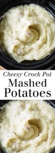 Cheesy Crock Pot Mashed Potatoes - So easy, great for Thanksgiving! Lots of gooey gruyere cheese and creamy red potatoes. Full recipe at theliveinkitchen.com @liveinkitchen