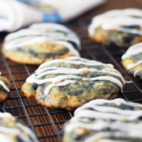 buttery cookies on a cooling rack