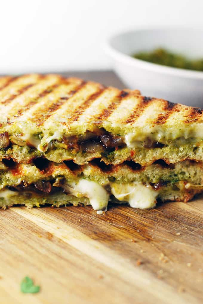 Butternut Squash and Sage Pesto Grilled Cheese - Woah! This grilled cheese sandwich combines all my comfort food dreams! Full recipe at theliveinkitchen.com