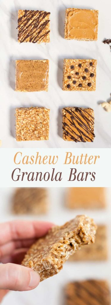 Cashew Butter Granola Bars - Soft, chewy granola bars that are naturally sweetened. These are so easy and delicious! theliveinkitchen.com