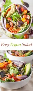 The Best Easy Vegan Salad - No more sad salads around here! This has everything I want. Full recipe at theliveinkitchen.com